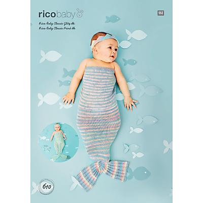 Image of Rico Baby Classic DK Mermaid Blanket And Headband Knitting Pattern, 610