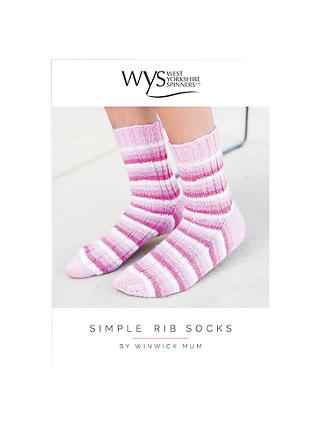 West Yorkshire Spinners Signature Adult Simple Ribbed Socks Knitting Pattern