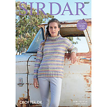 Buy Sirdar Crofter DK Cowl Neck Sweater Pattern, 8007 Online at johnlewis.com
