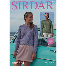Buy Sirdar Dapple DK Sweaters Pattern, 8067 Online at johnlewis.com