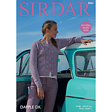 Buy Sirdar Dapple DK Knitted Cable Cardigan Jacket Pattern, 8063 Online at johnlewis.com