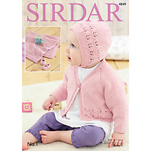 Buy Sirdar No 1 DK Baby's Cardigan and Accessories Patterns, 4849 Online at johnlewis.com