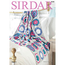 Buy Sirdar No 1 DK Throw Pattern, 8048 Online at johnlewis.com
