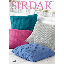 Buy Sirdar No 1 DK Cushions Pattern, 8050 Online at johnlewis.com