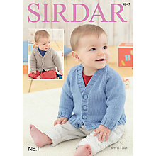 Buy Sirdar No 1 DK Baby's Cardigans Pattern, 4847 Online at johnlewis.com