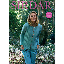 Buy Sirdar No 1 DK Cable Knit Cardigan Jacket Pattern 8052 Online at johnlewis.com