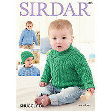 Buy Sirdar Snuggly Crew or Shawl Neck Cable Knit Sweater Pattern 4815 Online at johnlewis.com