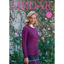 Buy Sirdar No 1 DK Cable Knit Cardigan Pattern, 8046 Online at johnlewis.com