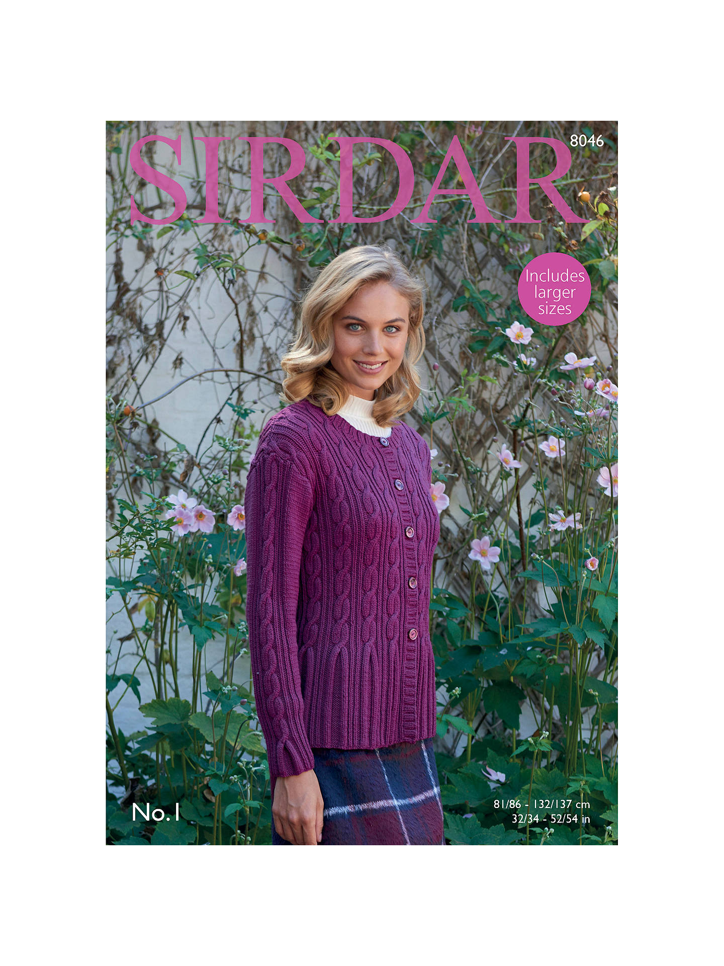 0f8faa84e451 Buy Sirdar No 1 DK Cable Knit Cardigan Pattern