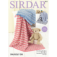 Buy Sirdar Snuggly DK Baby Blanket Crochet Pattern, 4813 Online at johnlewis.com