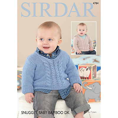 Product photo of Sirdar snuggly baby bamboo dk sweaters pattern 4784