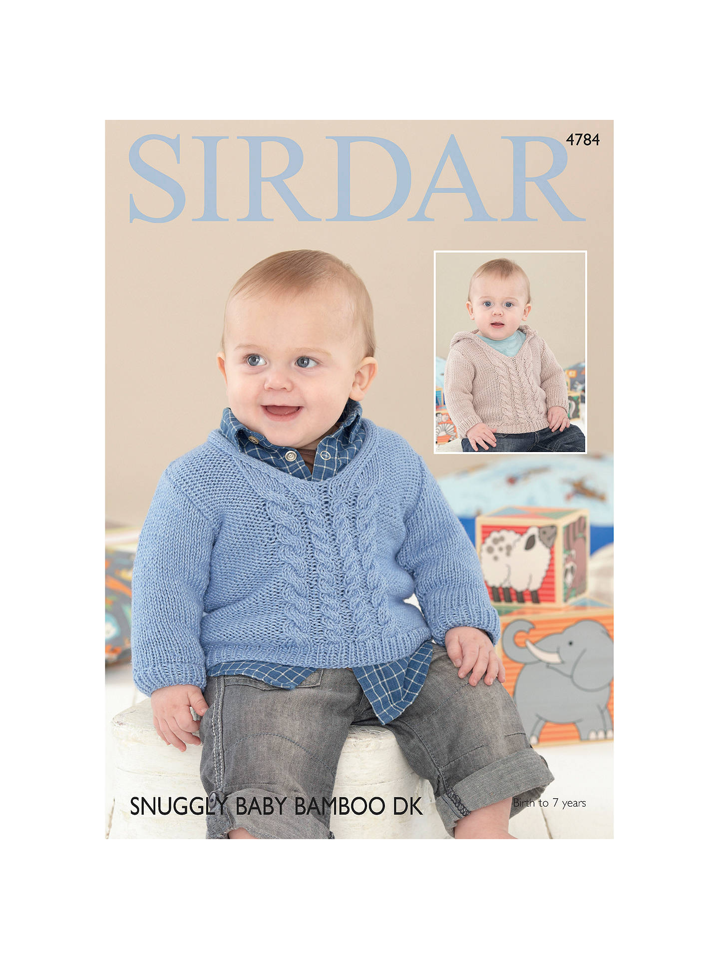 BuySirdar Snuggly Baby Bamboo DK Sweaters Pattern 4784 Online at johnlewis.com
