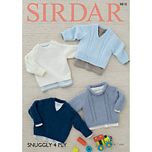 Buy Sirdar Snuggly 4 Ply Knitting Pattern, 4810 Online at johnlewis.com