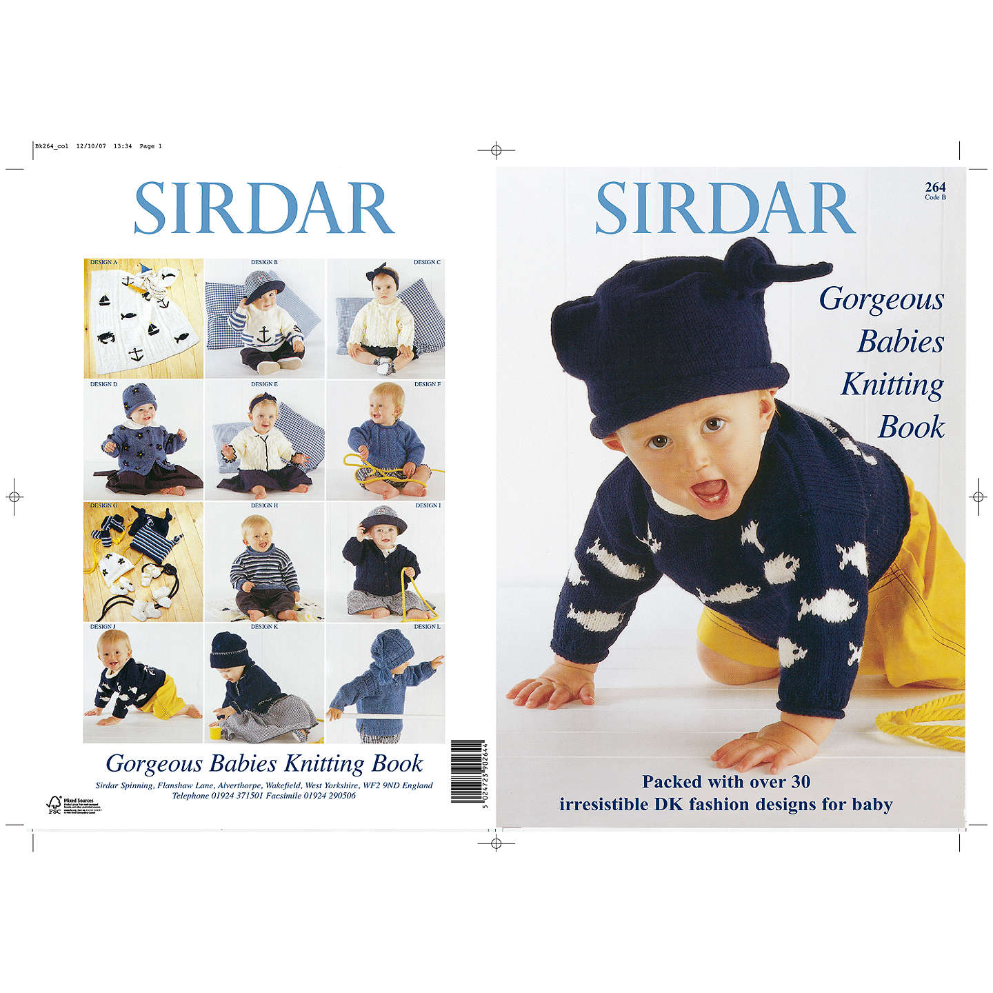 Sirdar Gorgeous Babies Knitting Pattern Book at John Lewis