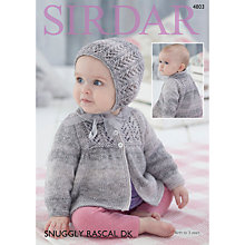 Buy Sirdar Snuggly Baby Rascal DK Knitting Pattern Book, 4803 Online at johnlewis.com