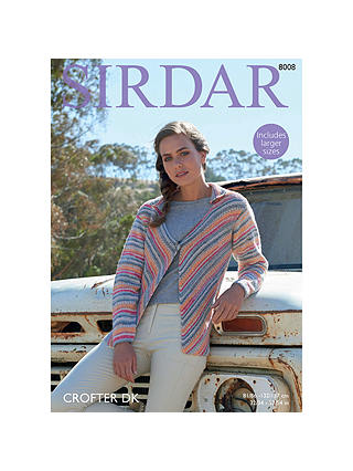 Buy Sirdar Crofter DK Knitted Jacket Pattern, 8008 Online at johnlewis.com