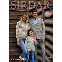 Buy Sirdar Crofter DK Cardigans Knitting Pattern, 7835 Online at johnlewis.com