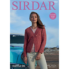 Buy Sirdar Dapple DK Knitted Jacket Pattern, 8064 Online at johnlewis.com