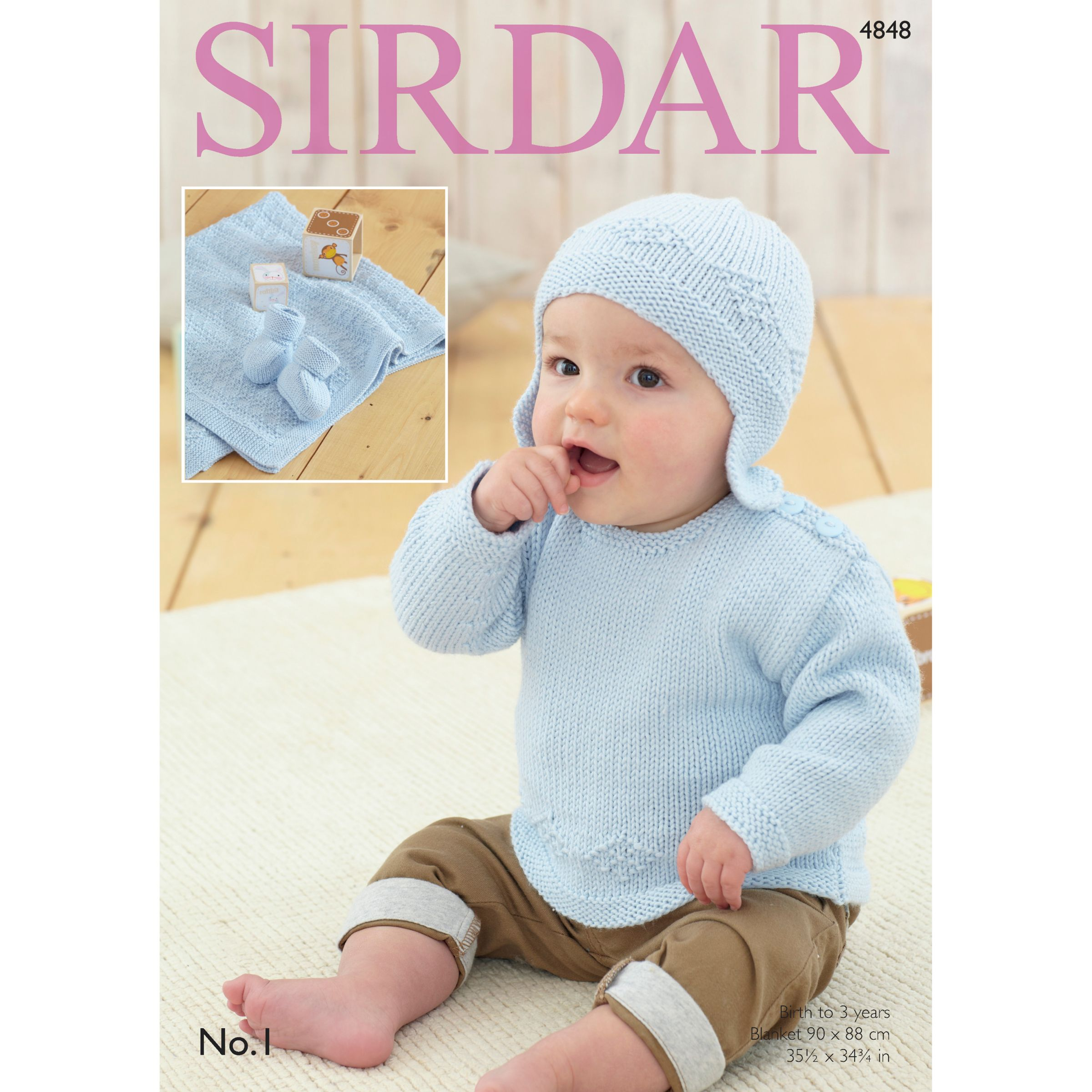 bd7c28679 Sirdar No 1 DK Baby s Sweater and Accessories Patterns