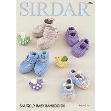 Buy Sirdar Snuggly DK Baby Bamboo Shoes and Booties DK Pattern 4786 Online at johnlewis.com