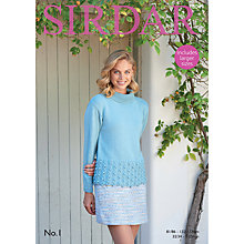 Buy Sirdar No 1 DK Roll-Neck Sweater Pattern, 8049 Online at johnlewis.com
