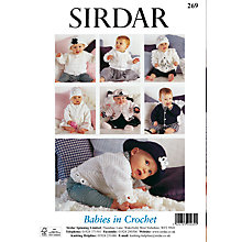 Buy Sirdar Babies in Crochet Patterns Brochure 269 Online at johnlewis.com