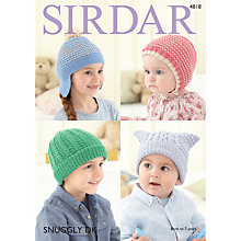 Buy Sirdar Snuggly DK Hat Patterns 4818 Online at johnlewis.com