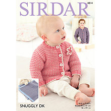 Buy Sirdar Snuggly DK Cardigan and Blanket DK Pattern 4814 Online at johnlewis.com