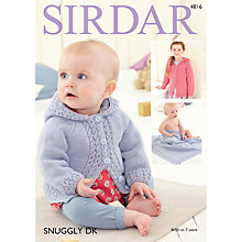 Buy Sirdar Snuggly DK Jacket and Blanket Pattern 4816 Online at johnlewis.com