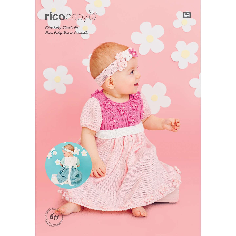 Rico Baby Classic DK Dress & Headband Knitting Pattern, 611 at John ...