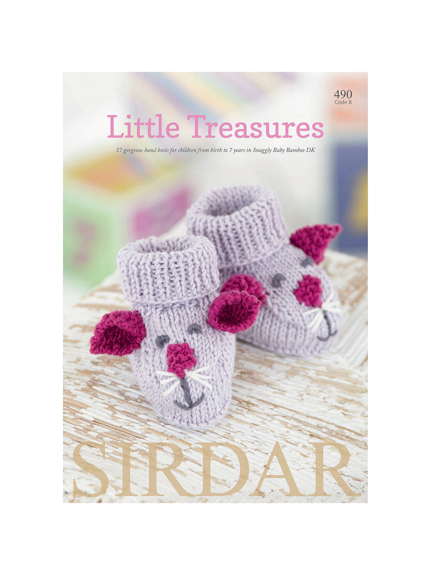 50f351714 Buy Sirdar Snuggly Baby Bamboo Little Treasures Knitting Pattern Book  Online at johnlewis.com ...