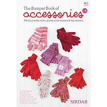 Buy Sirdar The Bumper Book Of Accessories Knitting Pattern Book Online at johnlewis.com