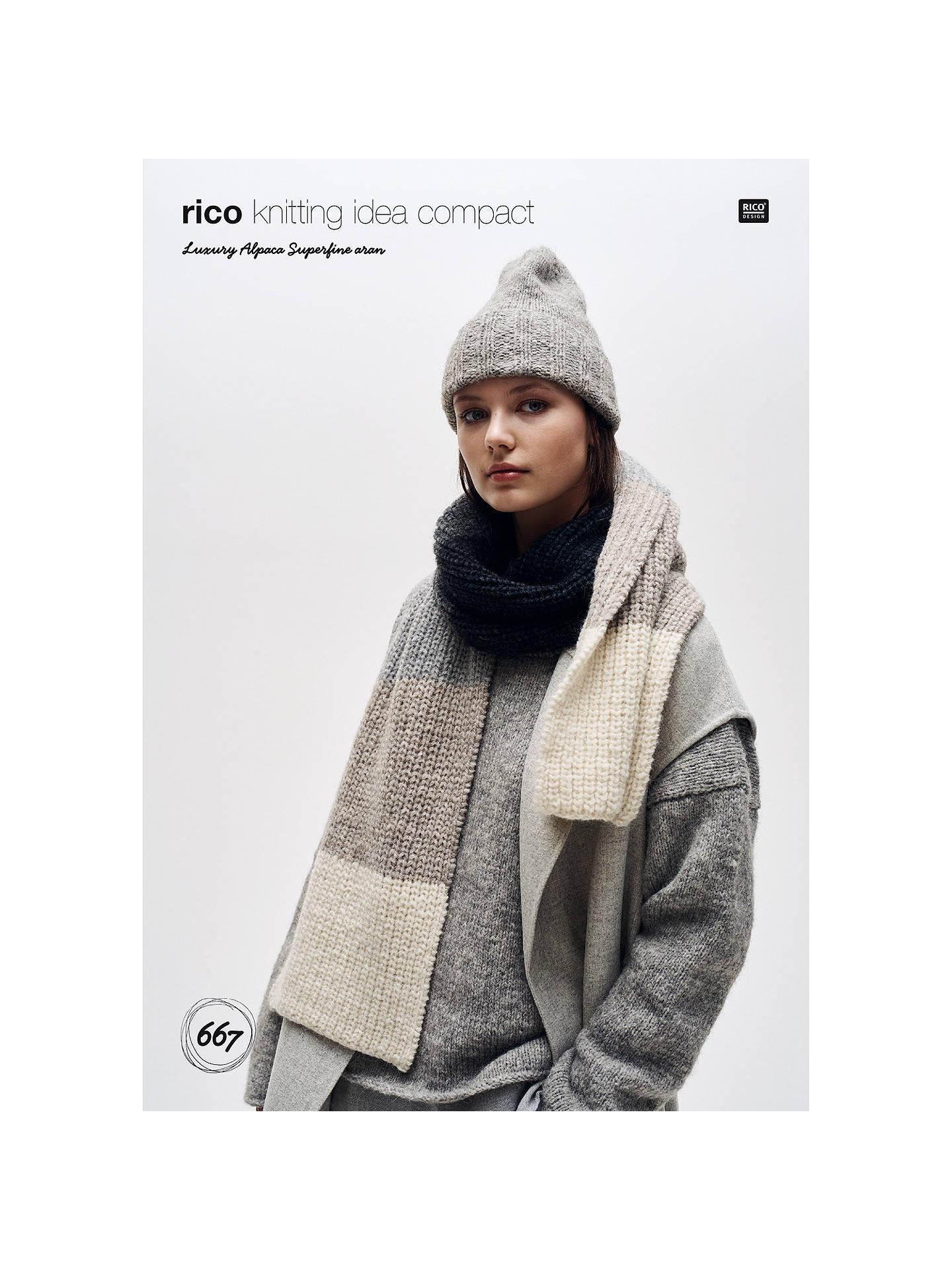 Rico Luxury Alpaca Superfine Women S Hat And Scarf Knitting Pattern
