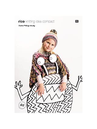 2efaddcfd4ee8 Rico Creative Melange Chunky Children s Poncho And Hat Knitting Pattern
