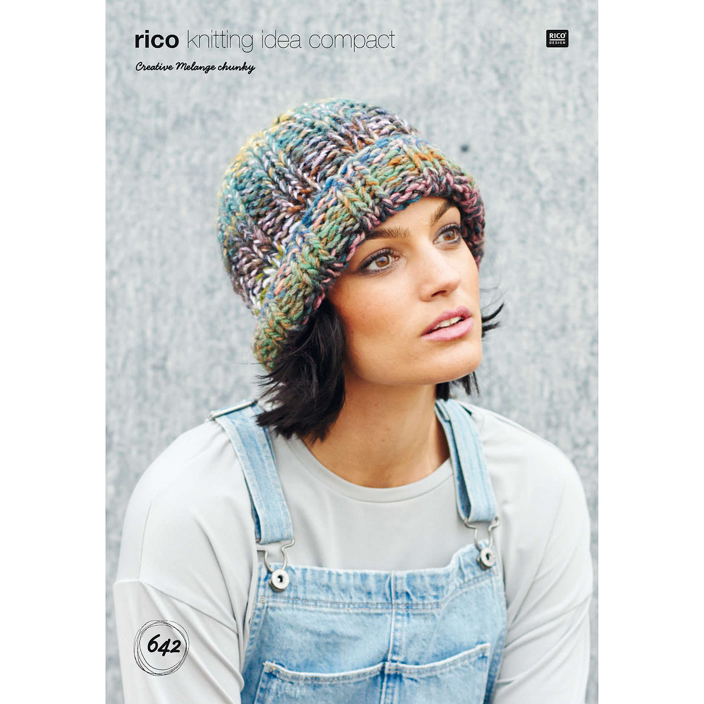 Rico Creative Melange Chunky Hat Knitting Pattern, 642 at John Lewis