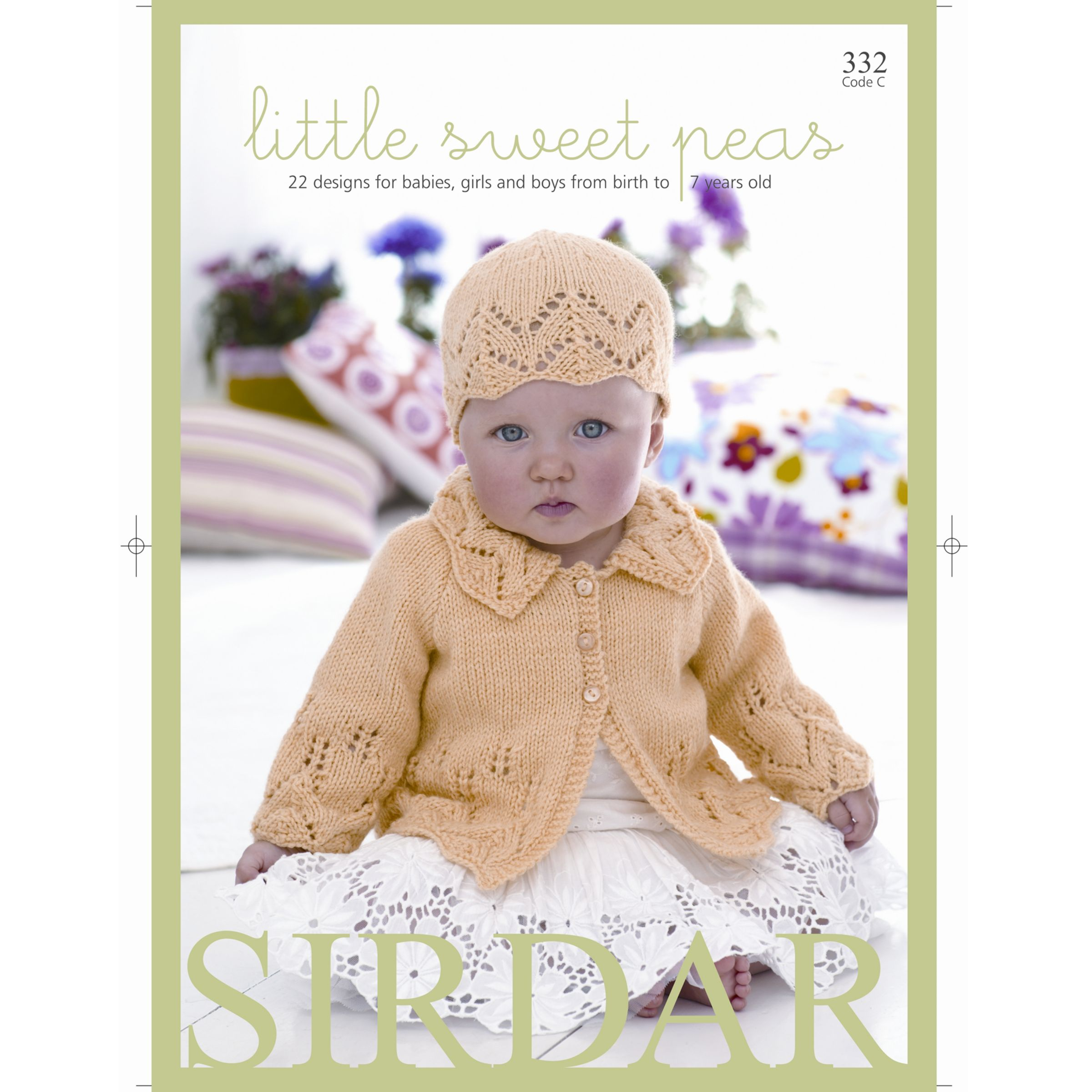 6055fee1e Sirdar Snuggly Baby Bamboo Little Sweet Peas Knitting Pattern Book at John  Lewis   Partners