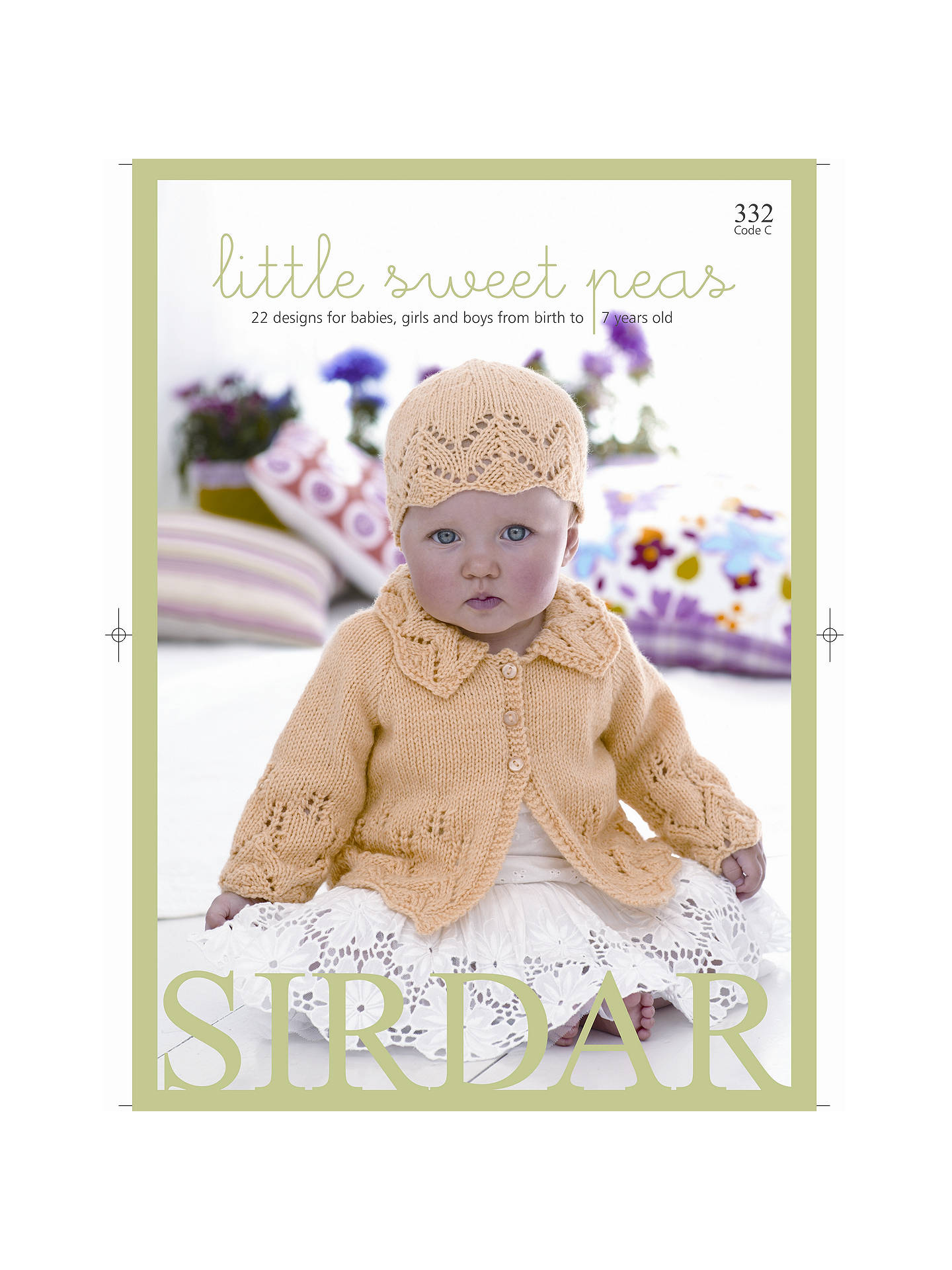 deb83e2b5 Buy Sirdar Snuggly Baby Bamboo Little Sweet Peas Knitting Pattern Book  Online at johnlewis.com ...