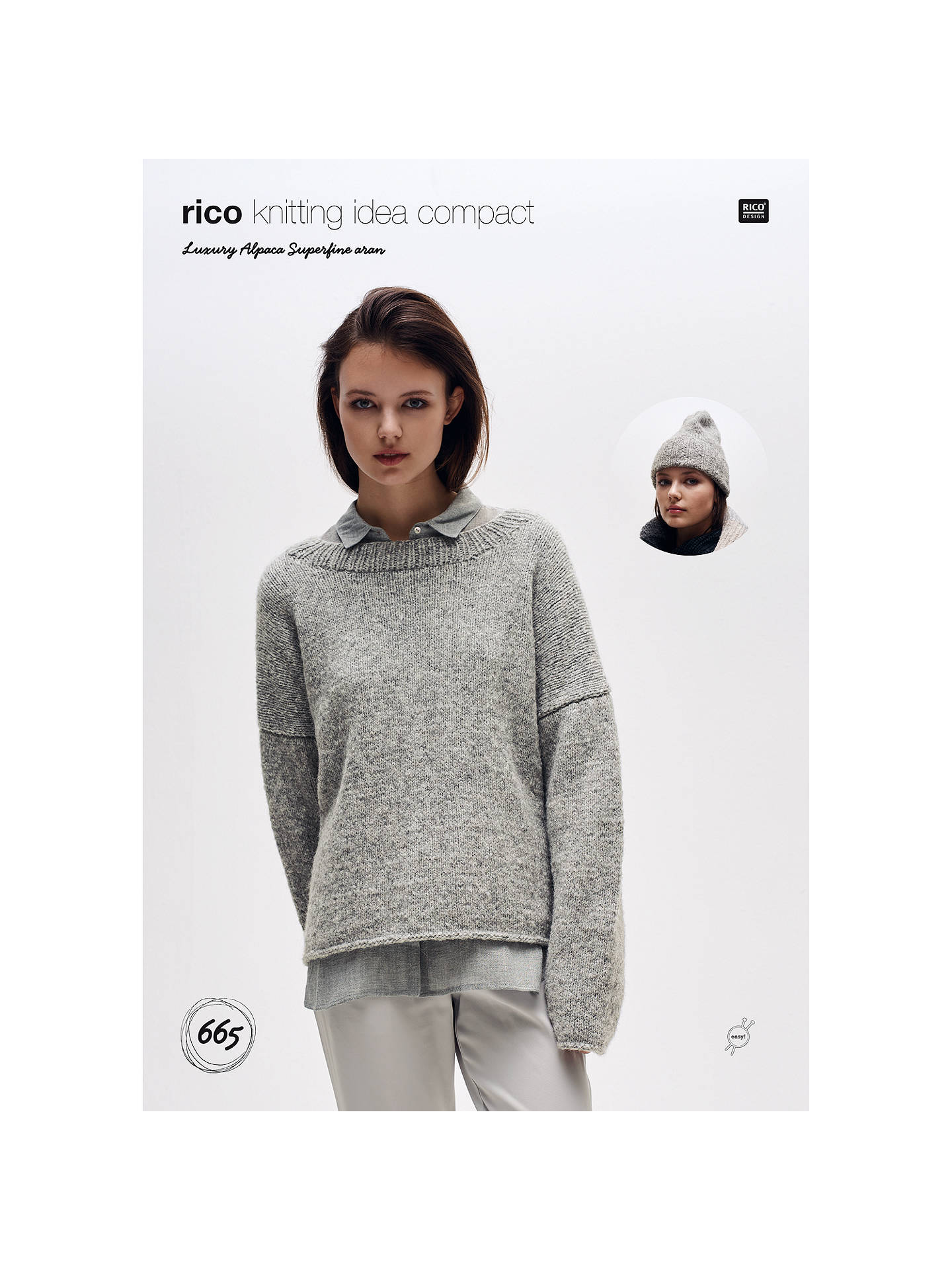 f0caea31adce Rico Luxury Alpaca Superfine Women s Jumper And Hat Knitting Pattern ...