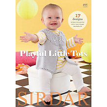 Buy Sirdar Snuggly Baby Bamboo Playful Little Tots Knitting Pattern Book Online at johnlewis.com