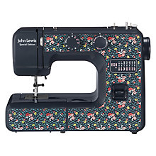 Buy John Lewis JL111 Sewing Machine, Blue/Ditsy Online at johnlewis.com