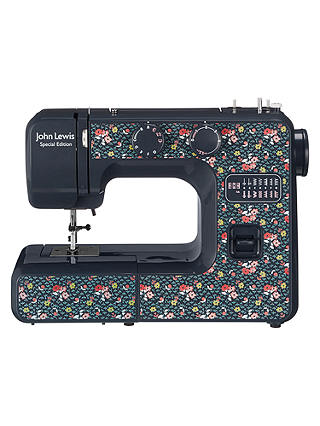Buy John Lewis & Partners JL111 Sewing Machine, Blue/Ditsy Online at johnlewis.com