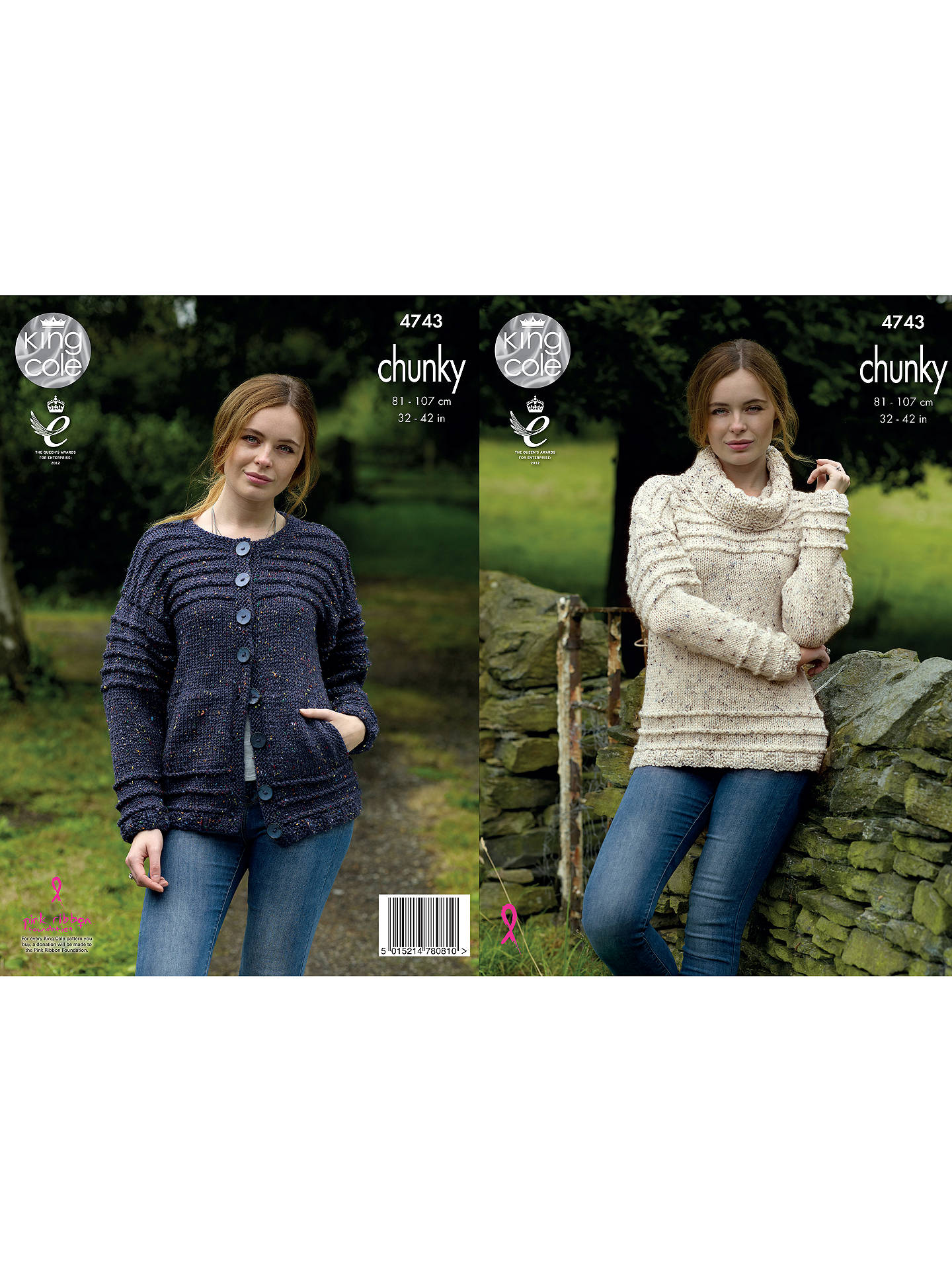 a8ce0c16852f King Cole Chunky Tweed Women s Jumper And Cardigan Knitting Pattern ...
