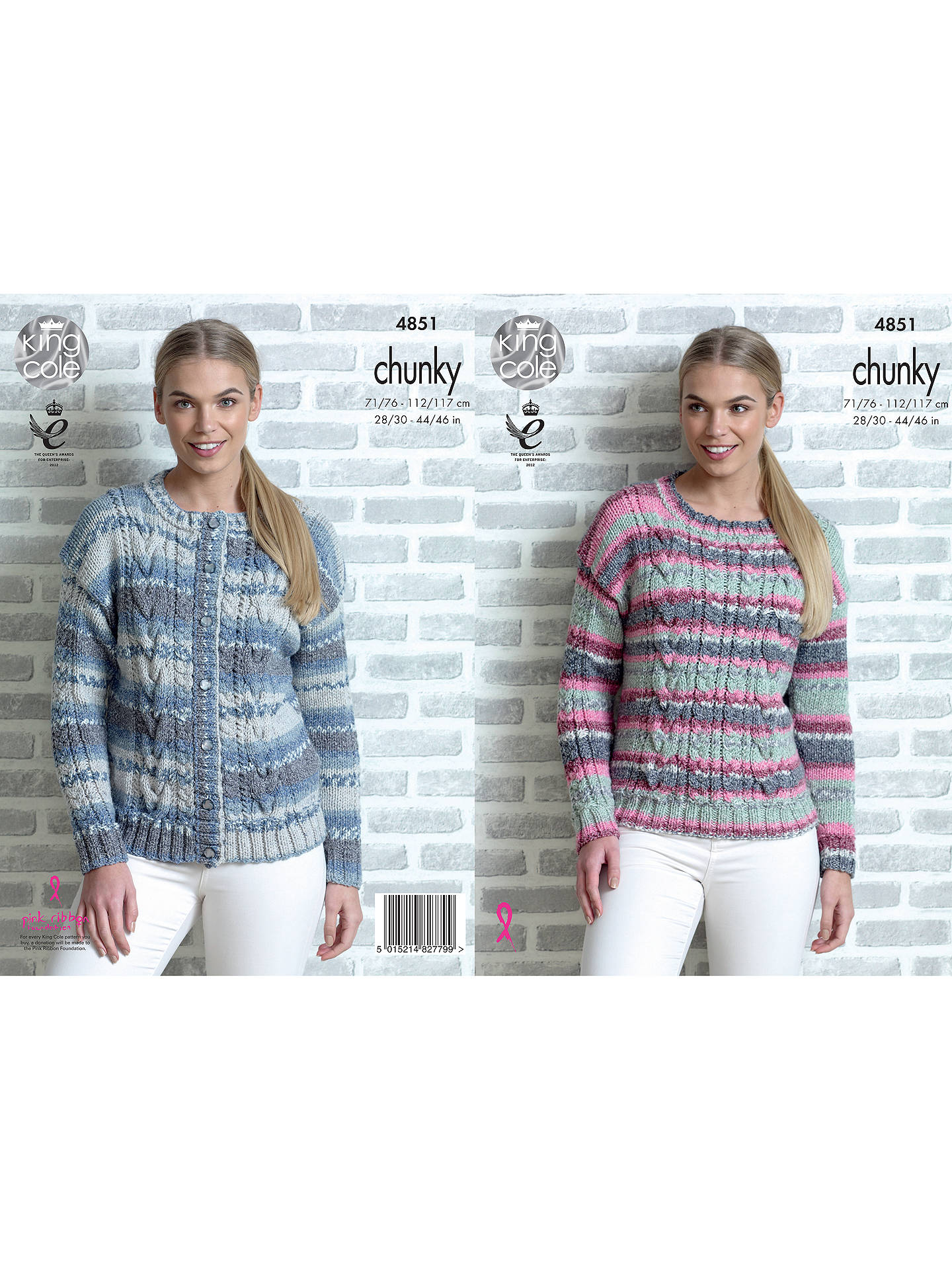 21ab5ac2279a9 Buy King Cole Drifter Chunky Women s Jumper Knitting Pattern