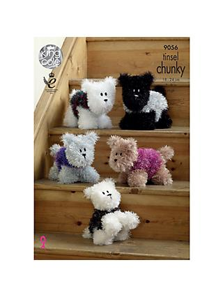 King Cole Tinsel Chunky Dog Knitting Pattern, 9056