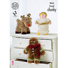 Buy King Cole Tinsel Chunky Christmas Dolls Knitting Pattern, 9055 Online at johnlewis.com