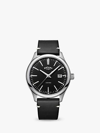Rotary Men's Oxford Date Leather Strap Watch