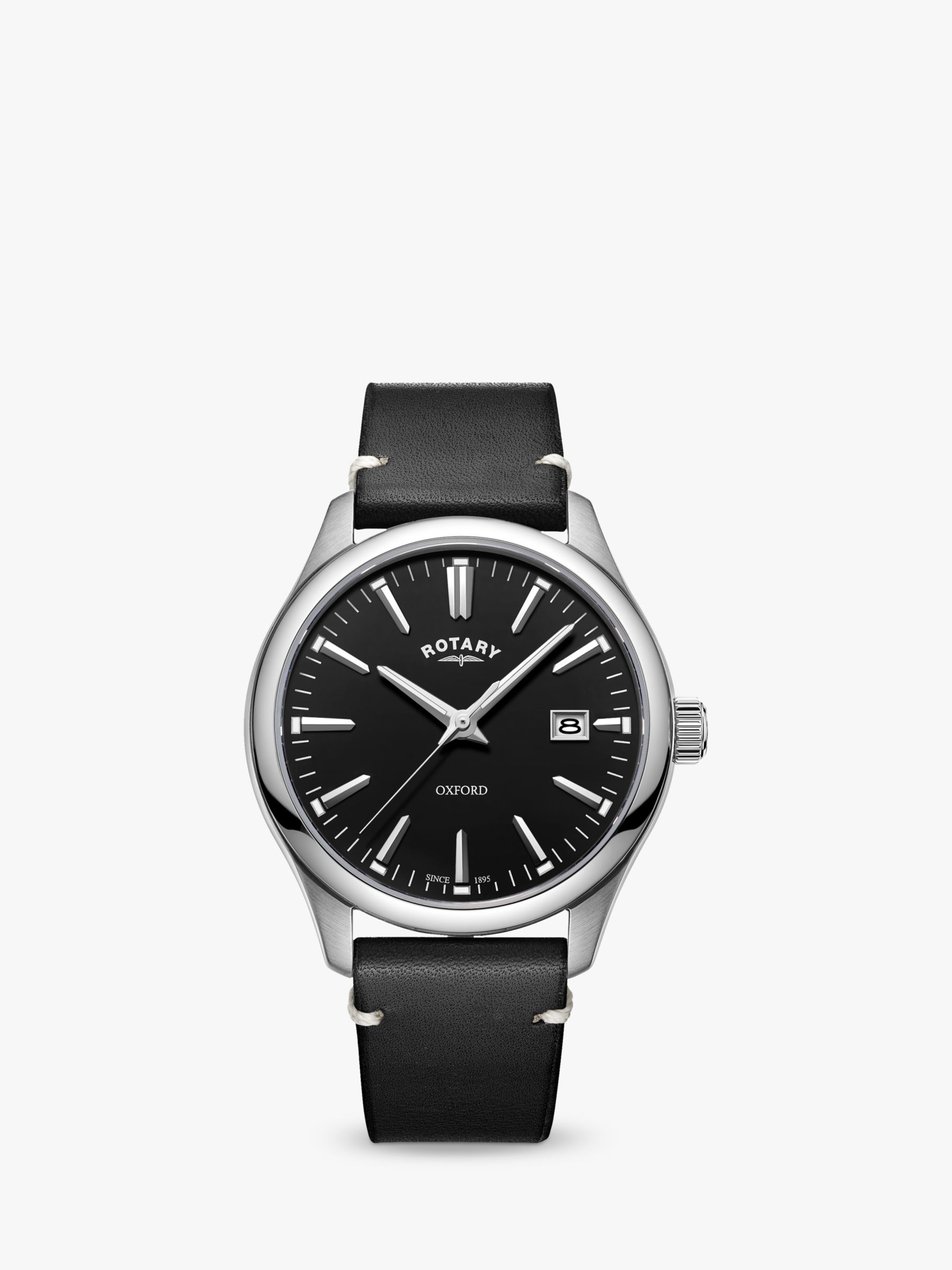 Rotary Rotary Men's Oxford Date Leather Strap Watch
