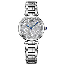 Buy Rotary LB05190/33 Women's Kensington Crystal Bracelet Strap Watch, Silver Online at johnlewis.com