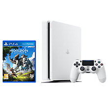Buy Sony PlayStation 4 Slim Console, 500GB, White with Horizon Zero Dawn Online at johnlewis.com