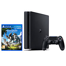 Buy Sony PlayStation 4 Slim Console, 500GB, Black with Horizon Zero Dawn Online at johnlewis.com